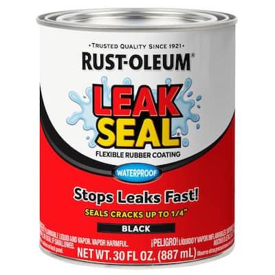 30 oz. LeakSeal Black Flexible Rubber Coating (2-Pack)