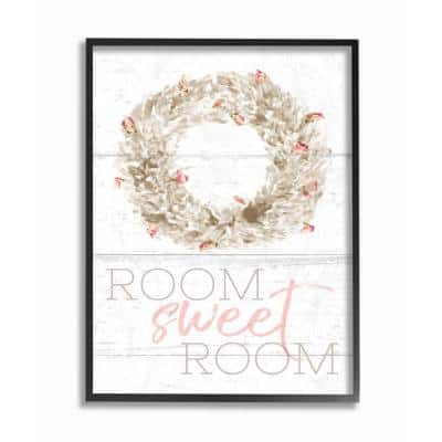The Stupell Home Decor Collection 16 In X 20 In Room Sweet Room Boxwood Watercolor Wreath By Daphne Polselli Wood Framed Wall Art Brp 2018 Fr 16x20 The Home Depot