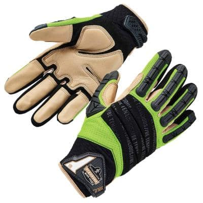 ProFlex 924LTR Large Leather Reinforced Hybrid Dorsal Impact Reducing Gloves