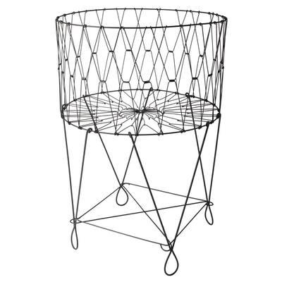 27 in. x 40 in. Vintage Black Wire Laundry Basket Hamper
