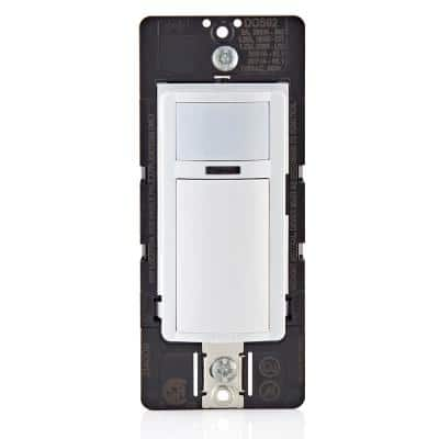 2 Amp Single Pole Decora Motion Sensor In-Wall Switch, Auto-On in White (1-Pack)