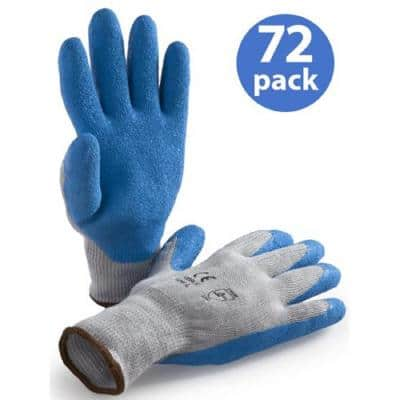 Large Premium Latex Coated Glove (72 Pair Value Pack)