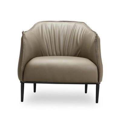 Tan Leatherette Batan Chair