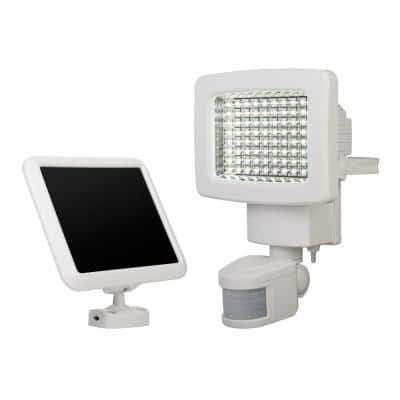 White Outdoor Solar 80-LED Motion Light