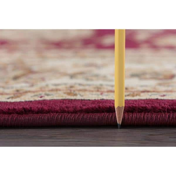 Tayse Rugs - Sensation Red 11 ft. x 15 ft. Transitional Area Rug