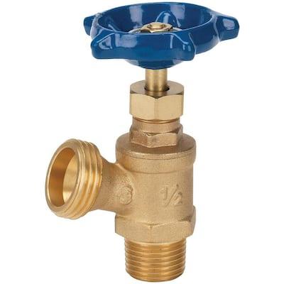 1/2 in. x 1/2 in. Brass MPT x MHT Boiler Drain