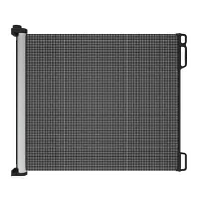 41 in. H Extra Tall and Wide Ultimate Outdoor Retractable Gate in Black