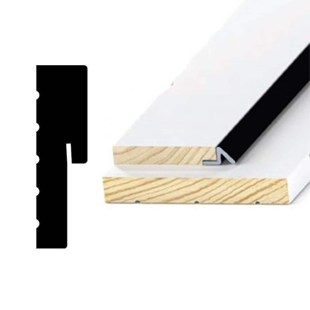 Alexandria Moulding 1-1/4 in. x 4-9/16 in. x 85 in. Primed Finger-Jointed Pine Wood Jamb Door Frame Moulding