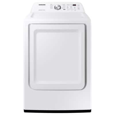 7.2 cu. ft. 240-Volt White Electric Dryer with Sensor Dry
