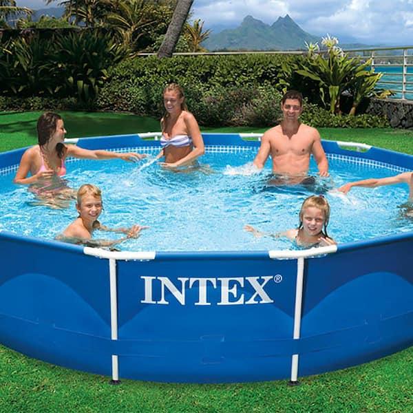 Intex 10 Ft X 30 In Metal Frame Swimming Pool With Filter Pump Kokido B Vac Vacuum 28201eh K923cbx The Home Depot