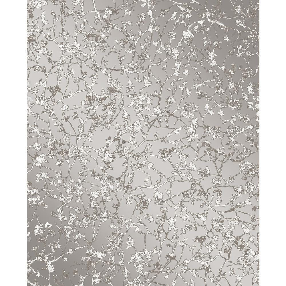 Decorline Palatine Grey Leaves Wallpaper Grey Wallpaper Sample 2735 23302sam The Home Depot