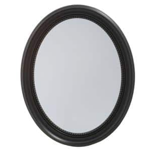 23-1/2 in. W x 29 in. H Framed Recessed or Surface-Mount Bathroom Medicine Cabinet in Black