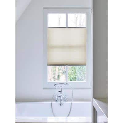 Cut-to-Size Beige Cordless Light Filtering Fabric 3/4 in. Cellular Shade 28.5 in. W x 72 in. L