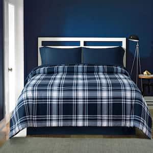 Thomas Plaid 5-Piece Blue Full Mini Bed-In-A-Bag