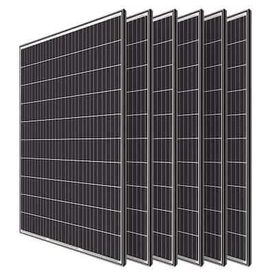 320-Watt Monocrystalline Solar Panel System Kit Off Grid for Shed Farm (6-Pieces)