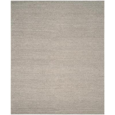 Natura Silver 8 ft. x 10 ft. Solid Area Rug