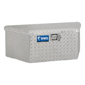 Bright Aluminum 34'' Trailer Tongue Box with Low Profile (Heavy Packaging)