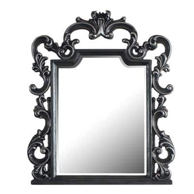 Delphine 48 in. x 2 in. Classic Arch Framed Accent Mirror