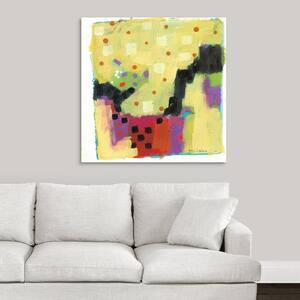 ''Yellow Matrix'' by Claudia McCabe Canvas Wall Art