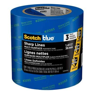 1.41 in. x 60 yds. Advanced Multi-Surface Painter's Tape with Edge-Lock (3-Pack)