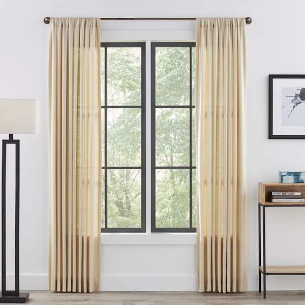 3 4 in 36 in 66 in single curtain metal rod in gunmetal with industrial pipe finial