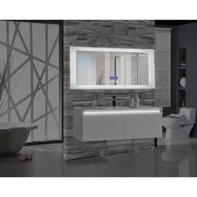 Encore BLU102 70 in. W x 27 in. H Rectangular LED Illuminated Bathroom Mirror with Bluetooth Audio Speakers