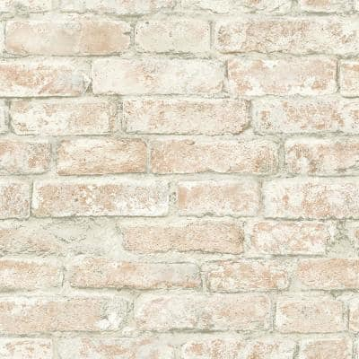 Arlington Multicolor Brick Multicolor Wallpaper Sample