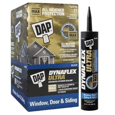 Dynaflex Ultra 10.1 oz. Black Advanced Exterior Window, Door and Siding Sealant (12-Pack)
