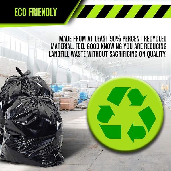 33 Gallon Black Low Density Ez Tie Closure Trash Bag 100 Count Rct 33xxx The Home Depot