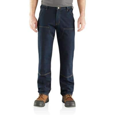 Men's 46 in. x 30 in. Erie Cotton/Polyester/Spandex Rugged Flex Relaxed Double Front