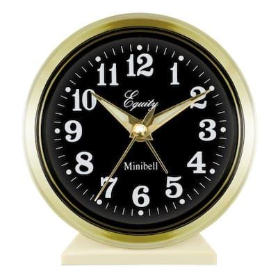 4 in. Round Loud Bell Keywind Analog Alarm Clock