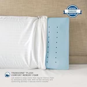 Ultra Comfort Plush Transcend Memory Foam Jumbo Pillow