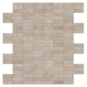 Hare Natural Mixed White/Gray 11.42 in. x 11.57 in. x 5 mm Stone Self-Adhesive Wall Mosaic Tile (11.04 sq. ft. /case)