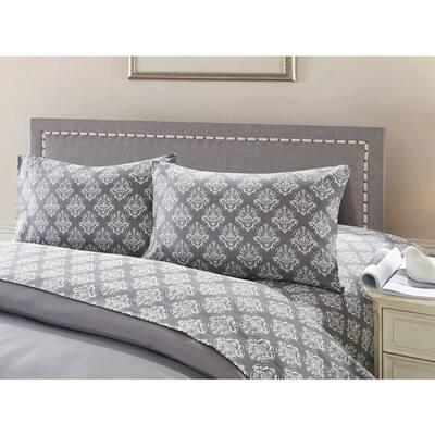 7-Piece Charcoal/Purple Twin Comforter Set