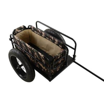EV Bicycle Cargo and Surfboard Trailer with Camoflauge Cover