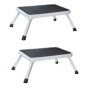 1-Step Folding Mini Step Stool with 330 lbs. Load Capacity (Set of 2)