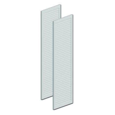 60 in. x 18 in. x 1 in. Polyurethane Louvered Shutters without Center Rail Pair