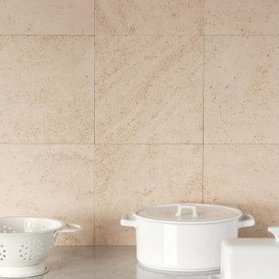 Michael Habachy Smooth Honey 8 in. x 8 in. Limestone Floor and Wall Tile (2.15 sq. ft./Case)