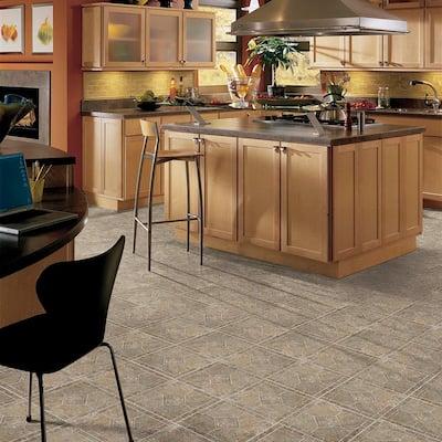 Multi-Color Bronze 12 in. x 12 in. Residential Peel and Stick Vinyl Tile Flooring (45 sq. ft. / case)