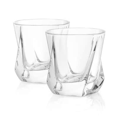 Aurora 8 oz. Crystal Whiskey Glasses (Set of 4)
