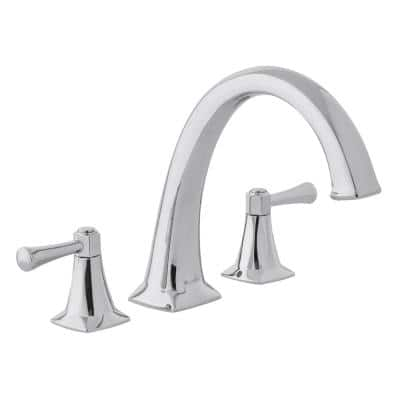 Stillmore 2-Handle Deck-Mount Roman Tub Faucet in Chrome