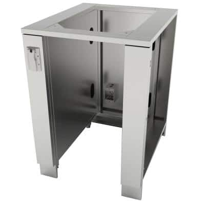 Designer Series 304 Stainless Steel 24 in. x 34.5 in. x 28.25 in. Appliance Cabinet for up to 15 in. W Fridge