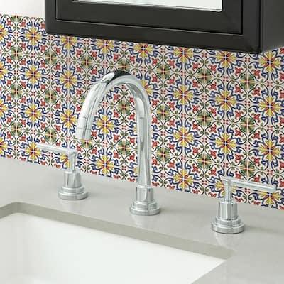 Multi-Color Tuscan Tile Peel Stick Backsplash Tiles