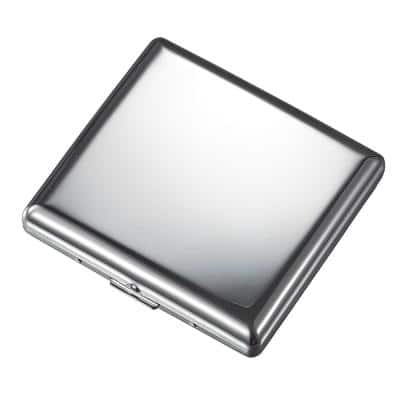 Venus Chrome Stainless Steel Cigarette Case (20-Cigarettes)