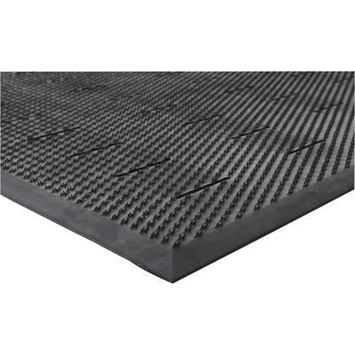 Free Flow Comfort Black 36 in. x 48 in. Rubber Anti-Fatigue Mat