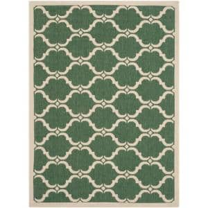 Courtyard Dark Green/Beige 4 ft. x 6 ft. Indoor/Outdoor Area Rug