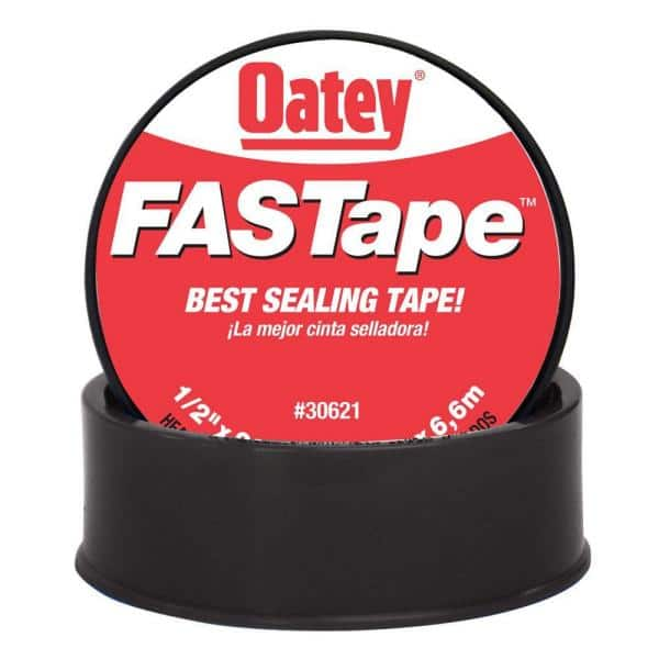 Oatey Fastape 1 2 In X 260 In Thread Sealing Ptfe Plumber S Tape 306212 The Home Depot
