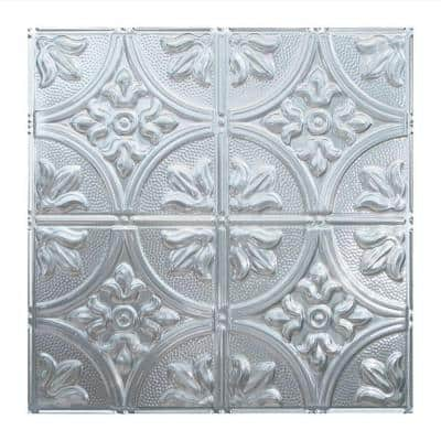 Traditional #2 2 ft. x 2 ft. Brushed Aluminum Lay-In Vinyl Ceiling Tile ( 20 sq.ft. )