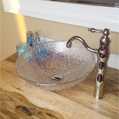 Victorian Single Hole Single-Handle Vessel Bathroom Faucet in Chrome