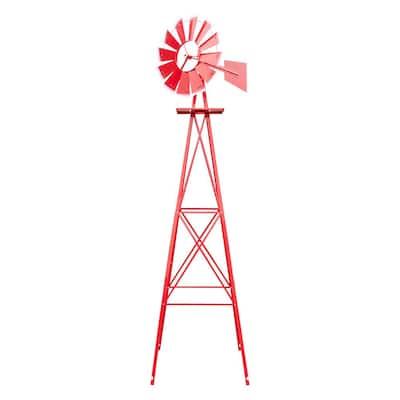 8 ft. Tall Windmill Ornamental Wind Wheel